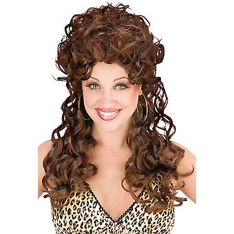 Trailer Park Trophy Wife Dark Brown Costume Women Wig