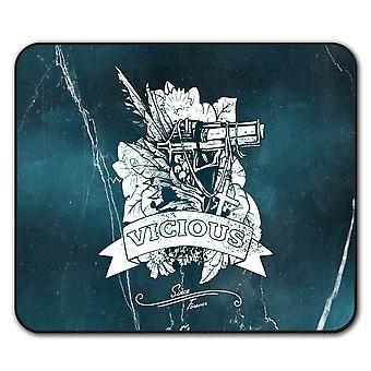 Vicious Cool Gun Gangster  Non-Slip Mouse Mat Pad 24cm x 20cm | Wellcoda