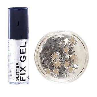 Stargazer Fix Gel Glue + Silver Glitter Stars