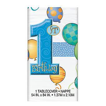 Primer cumpleaños azul mantel