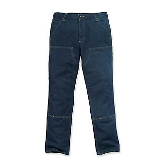 CARHARTT mens doppia anteriore salopette jeans pantaloni