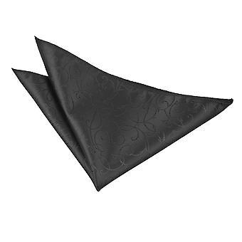 Black Swirl Handkerchief / Pocket Square