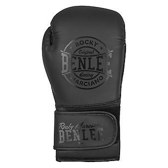 William boxe guanti in pelle etichetta nera Nero