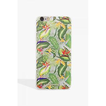 小さな愛人アクセサリー緑葉印刷ケース Iphone 7