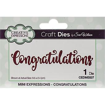 Creative Expressions Craft Dies By Sue Wilson-Mini Expressions-Congratulations