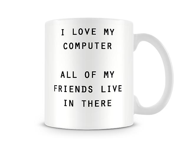 Friends Computer Printed Mug