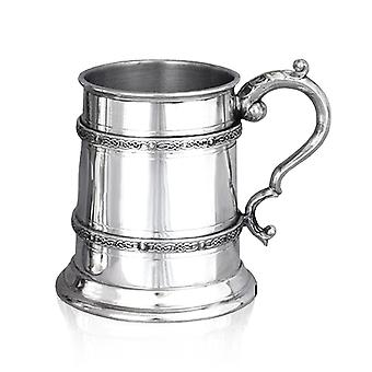 Celtic Double Band Pewter Tankard - 1/2 Pint