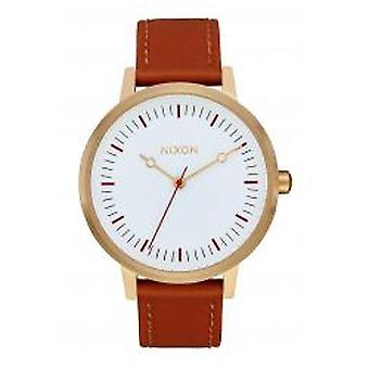 Nixon The Kensington Leather Gold / Red / Saddle (A1083004)