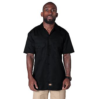 Dickies Short Sleeve Work Shirt - Black Dickies1574BK Mens Classic Work Shirt