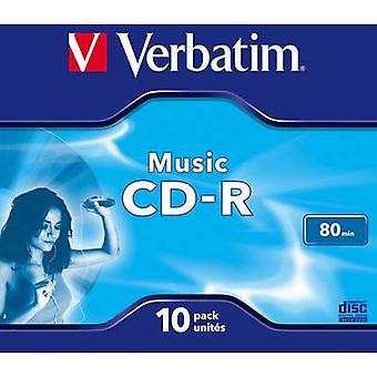 Leere CD-R Verbatim 43365 10 PC Jewel-case