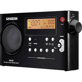 Sangean PR-D7 FM Portable radio AM, FM Black