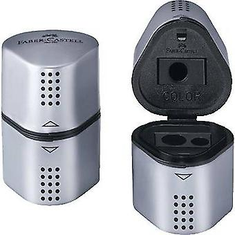 Faber-Castell Triple hole canister sharpener 183800 Silver Container type=Tin