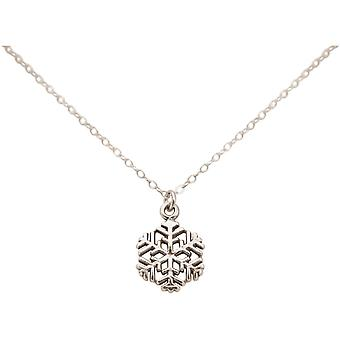 Gemshine - dames - halsketting - Hangers - sneeuwvlok - 925 zilver - 1.3 cm