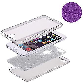 Gevaldekking van het kristal voor LG G6 glitter case paars volledige lichaam