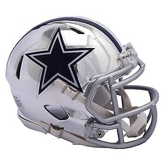 リデル ミニ フットボール用ヘルメット - クロム NFL ダラス ・ カウボーイズ