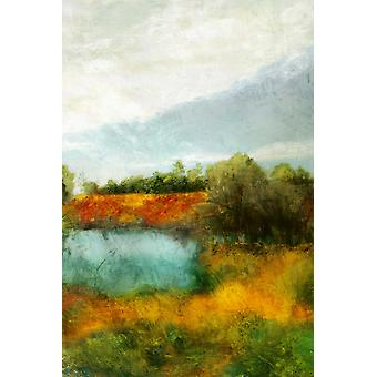 Bronze Horizon I Poster Print by Matina Theodosiu