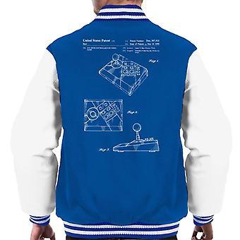 Nintendo NES Advantage Controller Patent Blueprint Men's Varsity Jacket