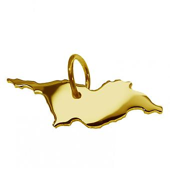 Trailer map pendants in gold yellow-gold in the form of Georgia