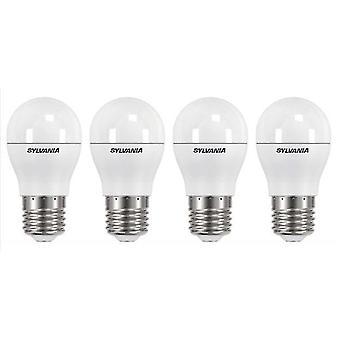 4 x Sylvania ToLEDo Ball Dimmable E27 V3 5.6W Daylight LED 470lm [Energy Class A+]