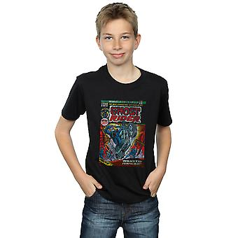 Marvel Boys Ghost Rider Distressed Comic Cover T-Shirt