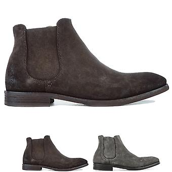 Mens Hudson London Stobart Suede Work Office Lived In Chelsea Ankle Boots