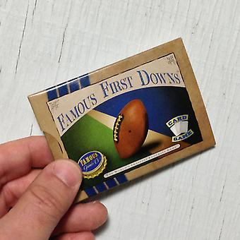 Famous First Downs football card game
