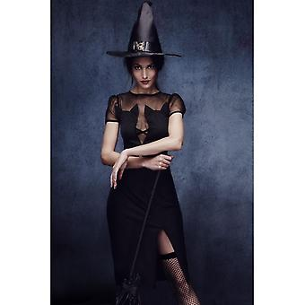 Fever Enchanting Cat Witch Costume, UK 16-18