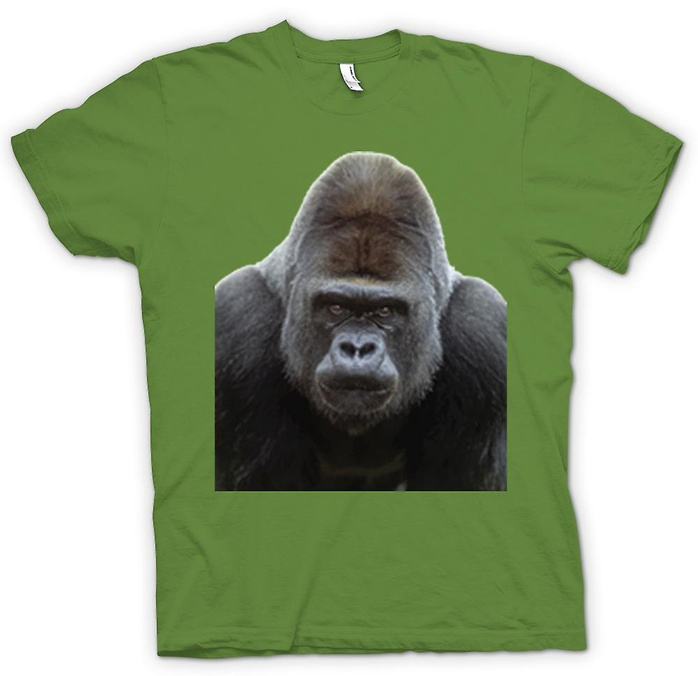 Mens t-skjorte-Gorilla Silverback portrett