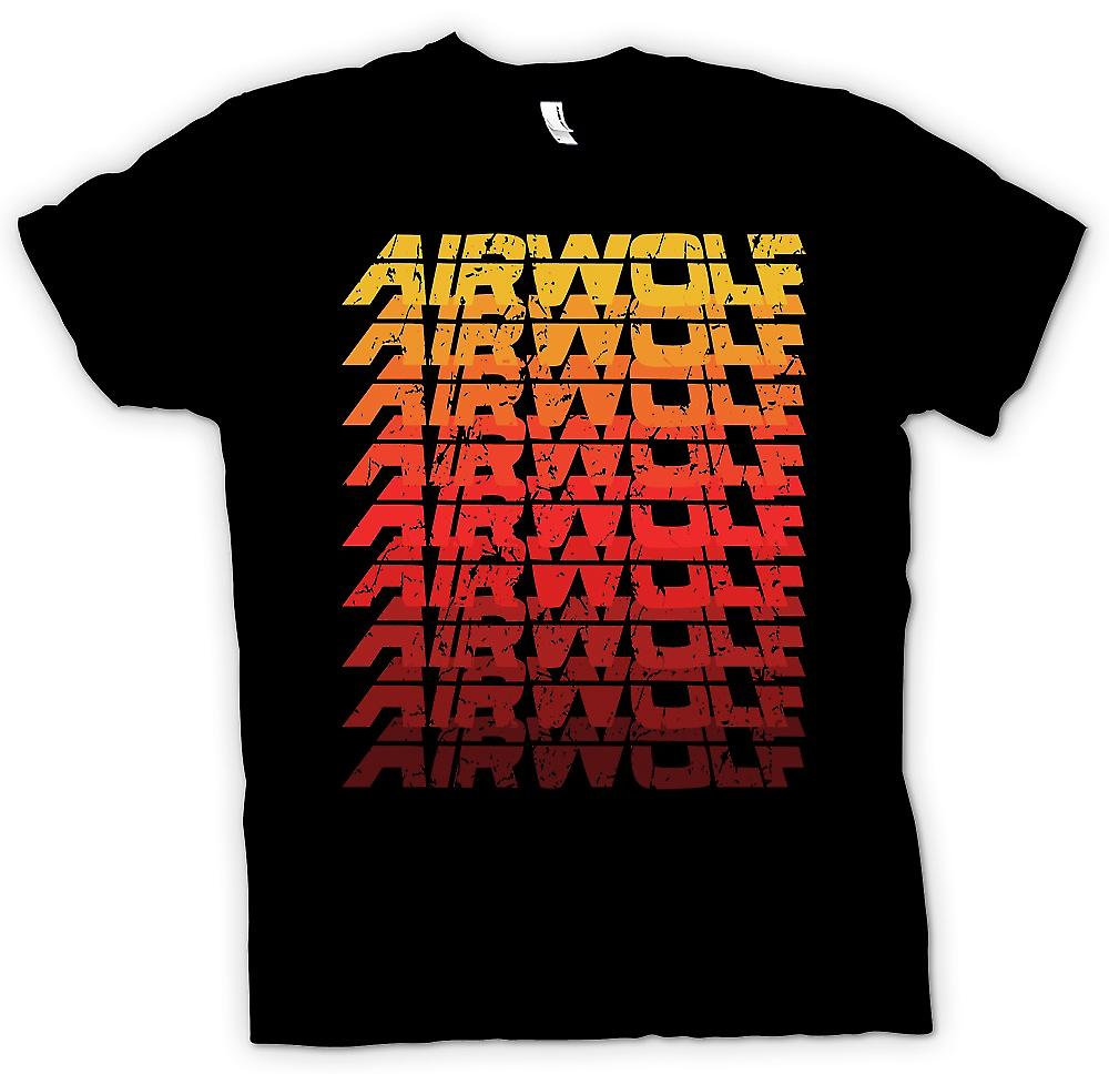 Womens T-shirt-Airwolf Cool pop Art Design