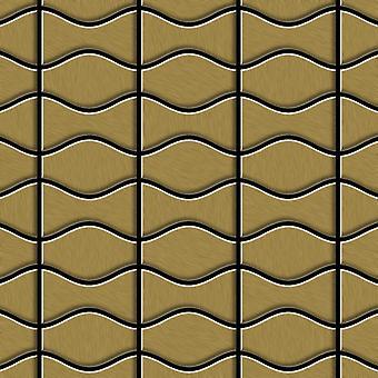 Mosaico de metal sólido Titanio ALLOY Kismet-Karma-Ti-GB