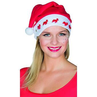 Weihnachtsmütze Rentier mit Licht Accessoire X-Mas