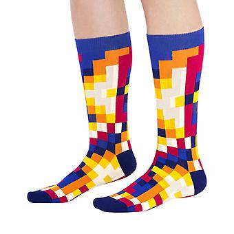 Pro luxury combed cotton designer crew socks in ocean | By Ballonet