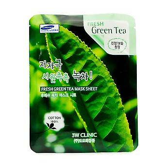 3w Clinic Mask Sheet - Fresh Green Tea - 10pcs