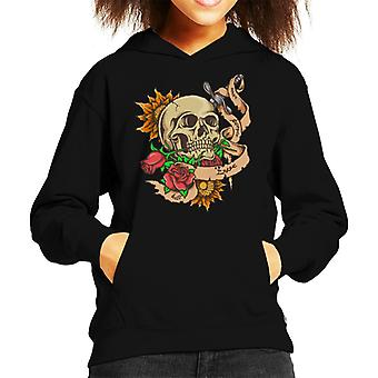 Schedel Tattoo Kid's Hooded Sweatshirt