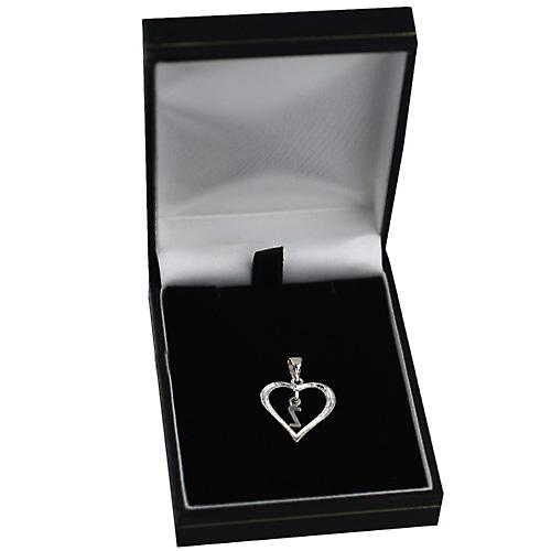 Silver heart Pendant with a hanging Initial Z