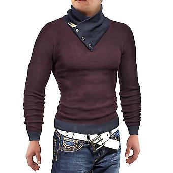 Men's sweater knitted sweat shirt fabric candlelit shawl collar sweatshirt