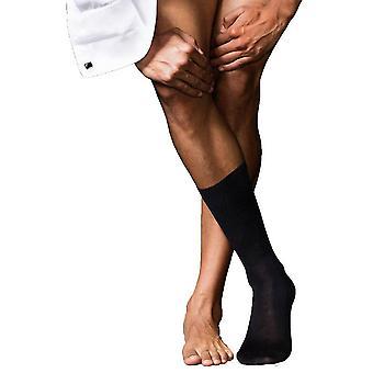 Falke No6 Merino más fino y calcetines de seda - negro