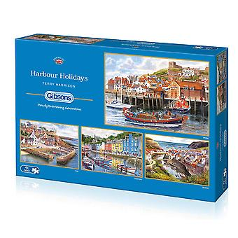 Gibsons Harbour Holidays Jigsaw Puzzle (4x500 Piece)