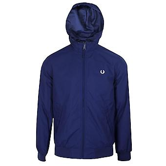 Fred perry brentham men's sapphire hooded jacket
