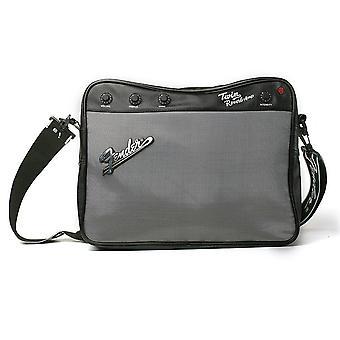 Fender Messenger bag grey/black, polyurethane & polyester, in the fender design.