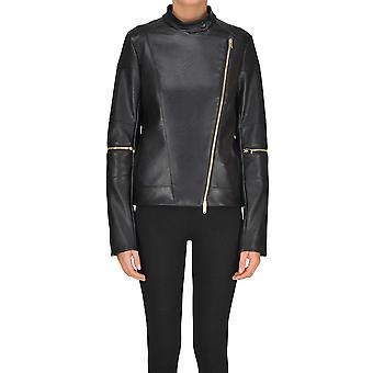 Stella Mccartney Black Faux Leather Outerwear Jacket
