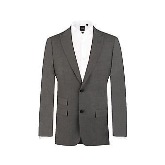 Dobell Mens ljus grå resor/prestanda 2 Piece Suit Slim Fit Peak kavajslag