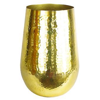 Leaf Tall Metal Gold Vase Planter Large 20 x 30cm