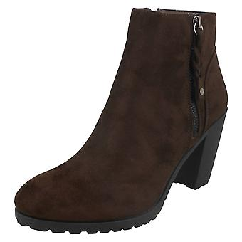 Ladies Spot On Ankle Boots With Zip Detail