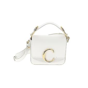 Chloé White Leather Shoulder Bag