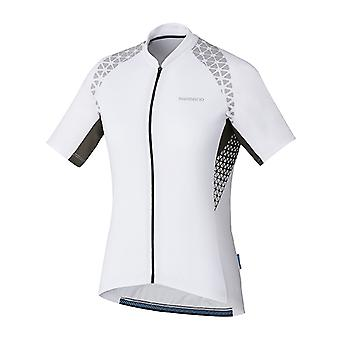 Shimano White Escape Print Womens Short Sleeved Cycling Jersey