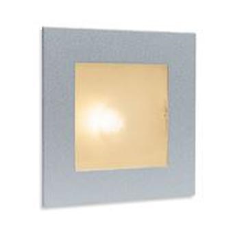 Firstlight-1 ljus inomhus vägg & steg ljus satin stål, glas omslag-1131SS
