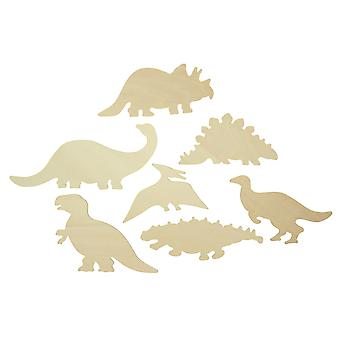 Bigjigs Toys Wooden Dinosaur Drawing Templates Stencils Painting Kids Child