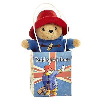 El oso Paddington en la bolsa de regalo Union Jack