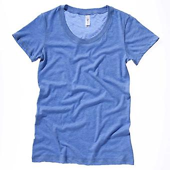 Bella Womens Canvas Tri-Blend Fitted Deep Neck T-Shirt